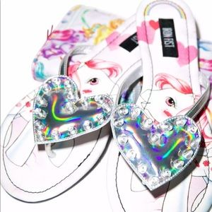 My little pony heart sandals thong shoes iron fist